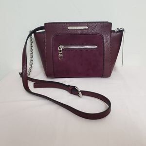 NWT!! STEVE MADDEN FAUX LEATHER/SUEDE CROSSBODY
